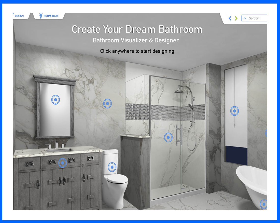 Free bathroom visualizer Bath Designer